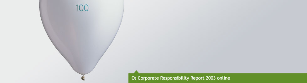 O2 Corporate Responsibilty Report 2003 online