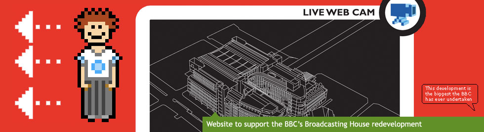 Website to support the BBC's Broadcasting House redevelopment