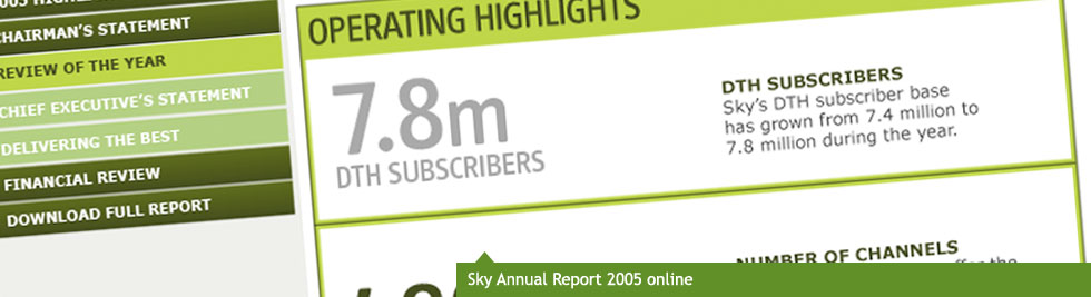Sky Annual Report 2005 online