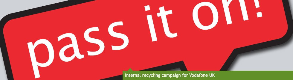 Internal recycling campaign for Vodafone UK