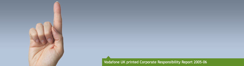 Vodafone UK printed Corporate Responsibility Report 2005-06