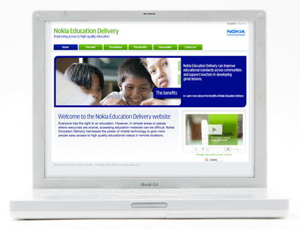 Nokia Education Delivery homepage