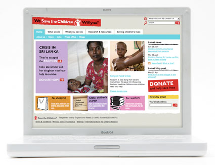 Save the Children homepage