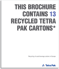 Tetra Pak recycling brochure front cover
