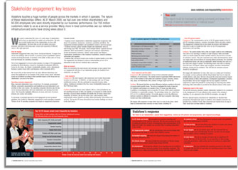 Vodafone stakeholder engagement key lessons spread